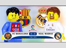 LEGO FC Barcelona 1 1 Real Madrid LaLiga 2016 2017
