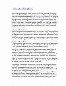 examples of reflective essay introduction example