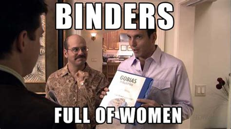 Binders Full Of Women Meme - what s in a like social media and the election uw election eye 2012 seattle times