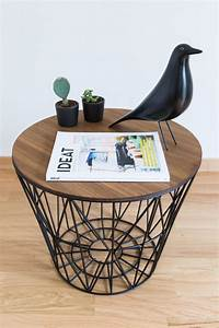 Diy wire basket coffee table do it your self for Metal basket coffee table