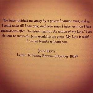 awwwwww i can never think about john and abby With john keats letters to fanny brawne book