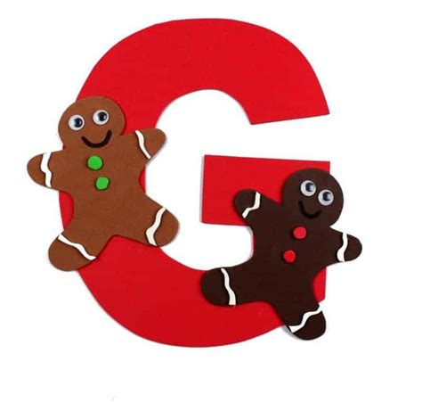 Letter G Craft With Free Printable – G is for Gingerbread