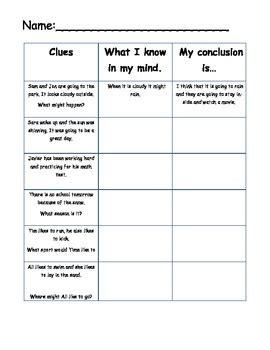 drawing conclusions worksheets for grade 1 homeshealth info