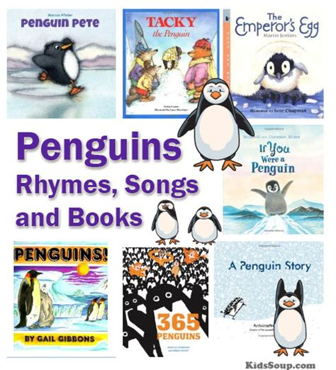 penguins rhymes felt stories songs and books kidssoup 241 | Penguins rhymes books KSsm