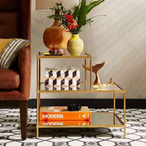 Glass top shelf, mirrored bottom shelf. Terrace Coffee Table | west elm