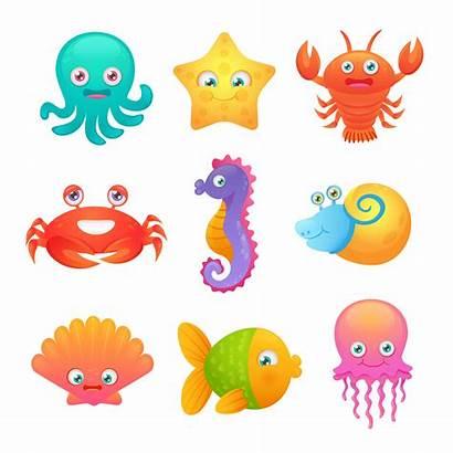 Sea Animals Vector Clipart Graphics Resources