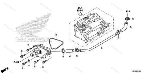 Honda Atv Oem Parts Diagram For Water Pump Cover