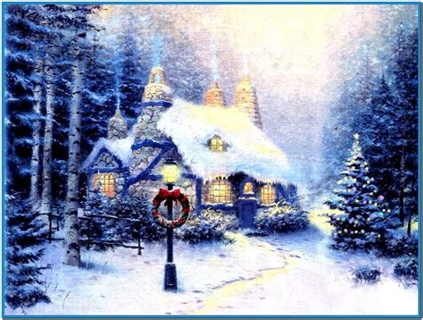 3d Snowy Cottage Animated Wallpaper - snowy cottage screensaver mac free