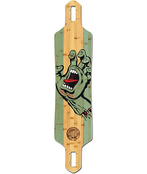 longboard drop deck santa stained bamboo 41 quot drop through longboard deck