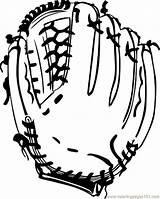Coloring Ganson Glove Bw Baseball Printable Sports sketch template