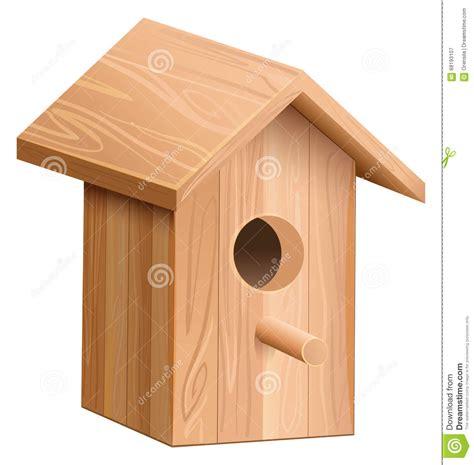 maison en bois pour l oiseau e illustration de vecteur image 68193107