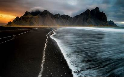 4k Water Iceland Coast Wallpapers Nature Sea