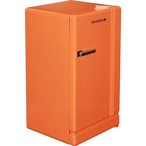 Kitchen Sink Design Ideas - retro orange bar refrigerator nostalgic look with col retro style handle