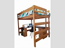 Double Loft Bed with Special Combination Large Corner Desk