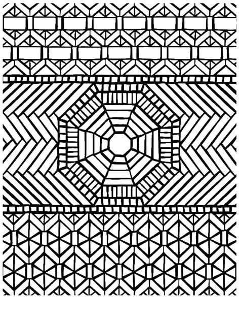 traditional pattern mandala mosaic coloring page  print  coloring pages