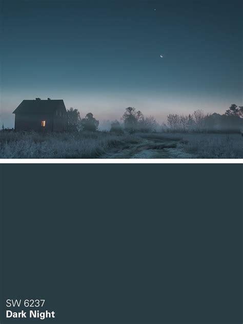 Sherwin Williams Blue Paint Color Dark Night Sw