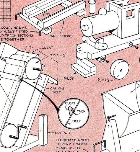 woodworking plan pattern train bulldozer roller toy ebay