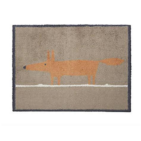 Fox Doormat by Scion Mr Fox Turtle Mat Doormat 85 X 59cm Lakeland