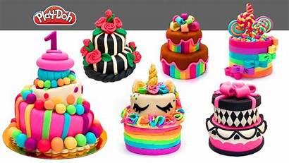 Play Cake Doh Cakes Playdough Clay Decoration