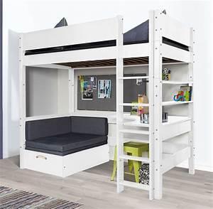 Hochbett Mit Sofa : hochbett mit sofa optionalem schreibtisch bestellen ~ Watch28wear.com Haus und Dekorationen