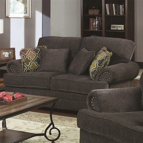 Coaster Loveseat by Coaster Colton Traditional Seat With Rolled Arms