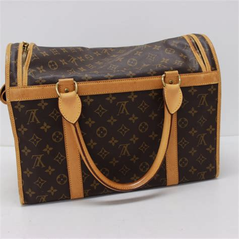 authentic louis vuitton monogram sac chien  dog carrier