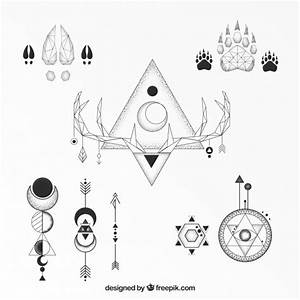Tatouage Loup Geometrique : collection classique de tatouage g om trique ethnique ~ Melissatoandfro.com Idées de Décoration