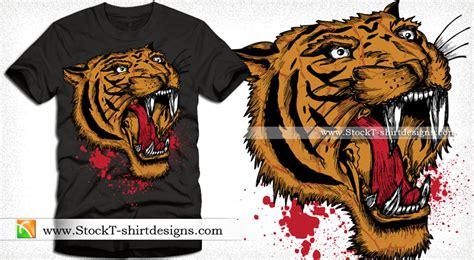 t shirt kaos tiger apparel vector t shirt design with tiger stockt shirtdesigns