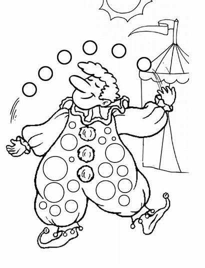Clown Coloring Pages Printable Colouring Circus Juggling