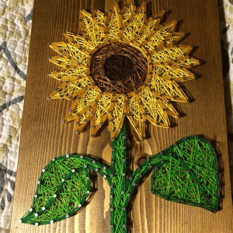 custom sunflower string art sign sunflower wall art