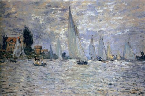 Monet Boats At Argenteuil by The Boats Regatta At Argenteuil Claude Monet Wikiart