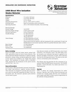 System Sensor Beam Detector Installation Manual