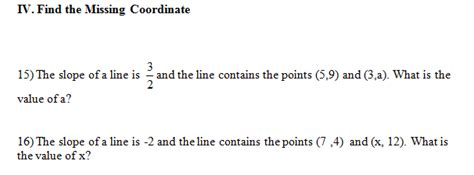 slope    worksheet  answer key