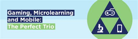 Gaming, Microlearning And Mobile The Perfect Trio