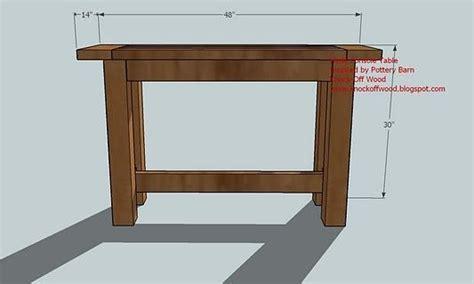 console table woodworking plans woodshop plans