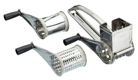 Kitchen Master Rotary by Genuine Kitchen Craft Stainless Steel Rotary Cheese Grater