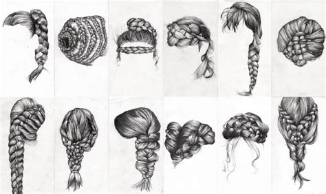 drawn braid pencil   color drawn braid