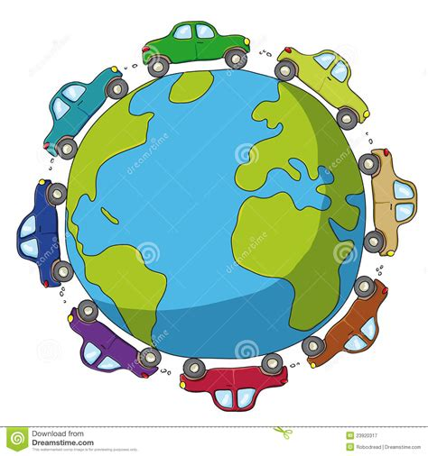 Cars Around The World by Cars Around The World Royalty Free Stock Photography