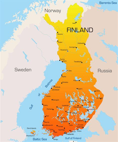 finland map guide   world
