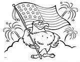 Coloring Flag American Pages Eagle sketch template