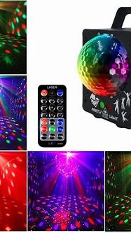 60 Patterns Sound Activated Party Laser Light, RGB DJ ...