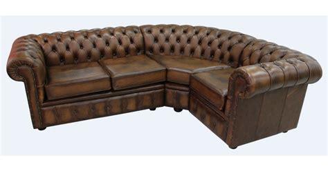 Chesterfield Corner Sofa 2 Seater + Corner + 1 Seater