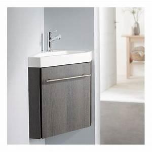 Meuble D Angle Moderne : lave mains d 39 angle complet avec meuble moderne couleur ~ Teatrodelosmanantiales.com Idées de Décoration