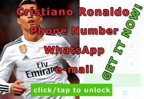 ronaldo phone number cristiano ronaldo phone number leaked news