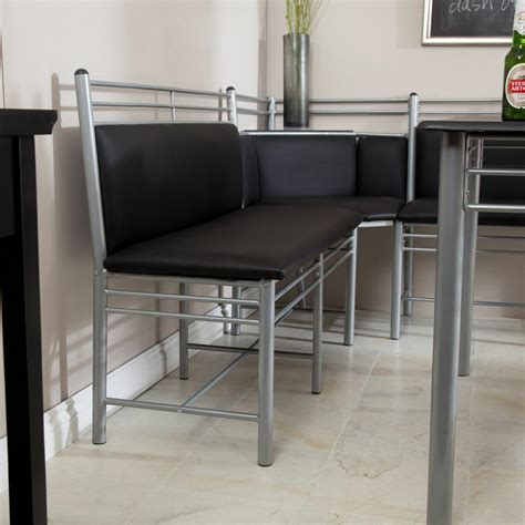 Kitchen Table Set With Bench by Dining Table Set 5 Modern Bench Kitchen Corner Metal