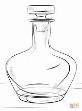 Coloring Bottle Pages Printable Drawing Games Paper sketch template
