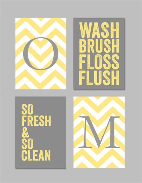 Yellow And Gray Chevron Bathroom Decor by Yellow And Gray Bathroom Home Decor Prints You Are My