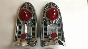 1956 Chevy Belair 210 150 Tail Light Chrome Bezel Assembly
