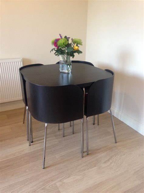 ikea dining table and four chairs neat space saving dining table and chairs very