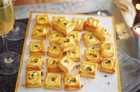 puff pastry canapes ideas goat 39 s cheese bites recipe food ideas tesco food